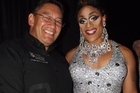 Hone Harawira and drag queen Buckwheat. Photo / Supplied