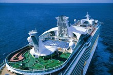 Facilities on the mega-liner Voyager of the Seas include nine holes of mini-golf, an ice rink and tennis courts. Photo / Supplied