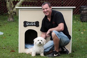 A doghouse will keep your furry friend cosy in winter and cool in summer. Photo / Doug Sherring