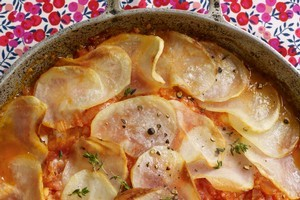 Galician fish pie recipe from Potty! Clarissa's One Pot Cookbook by Clarissa Dickson Wright. Photo / Howard Shooter
