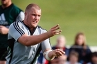 Owen Franks is well on the road to becoming the finest tighthead prop this country has produced. Photo / Sarah Ivey