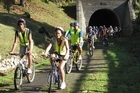 The rail tunnel at Okaihau is on the trail. Photo / APN