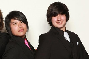 Wellington student Malcolm Pimentel (right) and his  friend Keith Labad on Facebook. Photo / Supplied