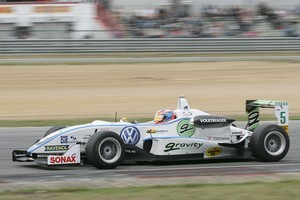 Richie Stanaway on the way to winning race in the German F3 championship at Zolder, Holland. Photo / Supplied