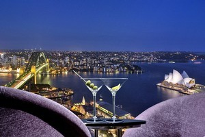 The Blu Bar 36 offers million-dollar views of Sydney's highlights through floor-to-ceiling windows. Photo / Supplied