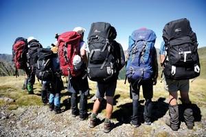Macpac backpacks. Photo / Kameda Masato