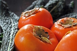 Choose persimmons that are firm with shiny skins. Photo / Janna Dixon