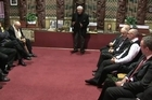 Footage of the 5.5 magnitude earthquake during the powhiri for the arrival of Environment Canterbury's new CEO Bill Bayfield at the Rehua Marae in Christchurch.