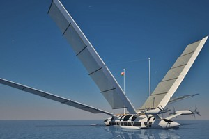 This yacht can transform into an aeroplane. Photo / Supplied