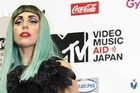 Lady Gaga attends a press conference, ahead of her appearance at the MTV Video Music Aid event, where she expressed her dedication to helping the Japanese people recover from the tsunami disaster.