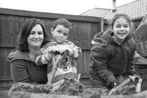 Tracey Bolton with children Liam and Cassandra at their home in Bexley. Photo / Paul Harper