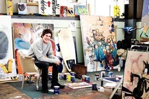 Matt Arbuckle in his studio at Shed 8. Photo / Babiche Martens