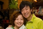 Gloria Ya Ping Gao and husband Alan Tao Yu at Maten Floral Design in St Lukes. Photo / Richard Robinson