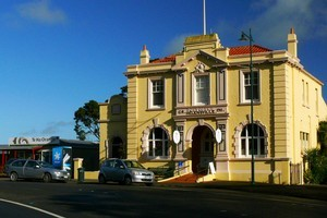 The colourful old post office in Helensville. Photo / Supplied