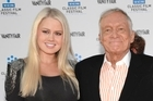 Anna Berglund with Hugh Hefner. Photo / AP