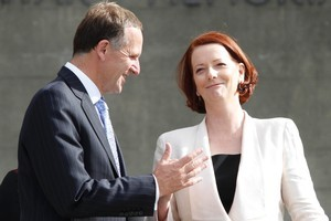 Julia Gillard's regard for New Zealand means John Key will receive a warm welcome in Canberra. Photo / Mark Mitchell