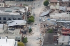 Damage in central Christchurch after the February quake. Photo /  Mark Mitchell