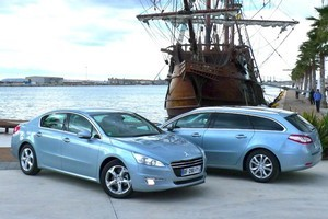 The sedan and SW salute the replica Spanish galleon, Andalucia. Photo / Supplied