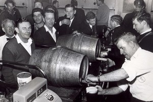 Last orders meant a rush to the bar in the days of six o'clock closing. Photo / New Zealand Herald