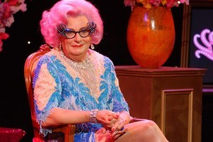 Barry Humphries as Dame Edna. Photo / Supplied