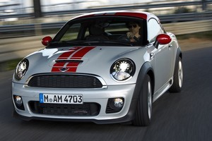 Unlike the main Mini range, the Coupe spec starts at 'Cooper' with a 90kW 1.6. Photo / Supplied