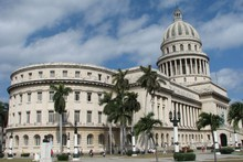 Havana's Capitolio was modelled on Washington DC's Capitol Building, but Cubans will proudly tell you it's taller. Photo / Jill Worrall