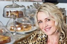 Libby Nicholson-Moon enjoying a coffee at Zus & Zo cafe, Herne Bay. Photo / Bruce Nicholson
