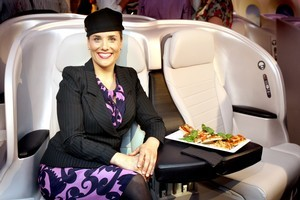 Air New Zealand's premium economy seats and catering impressed travellers voting in this year's Skytrax World Airline Awards. File photo / Natalie Slade