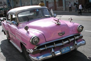A Chevy taxi for touring Havana in style. Photo / Jill Worrall