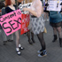 Women gather at SlutWalk Aotearoa in Auckland today. Photo / Michael Craig