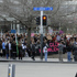 Cold weather didn't deter the turnout at SlutWalk on Queen Street. Photo / Michael Craig