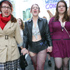 Eliza Jackson, Nikki Stokes and Chloe Hodgkinson participating in the SlutWalk down Queen St. Photo / Robert Trathen
