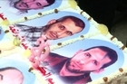 On the fifth anniversary of the abduction of the young Israeli soldier Gilad Shalit by Palestinian militants, the families of Palestinian prisoners being held in Israeli jails have held a ceremony, baking a large cake featuring images of their incarcerated relatives. An actor also reenacted Shalit's imprisonment.