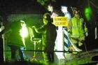 Police at Burnside Culvert. Photo / Michael Craig