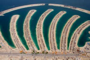 Jumeira Palm residential development in Dubai from the air. Photo / Supplied