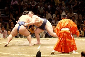 Sumo wrestling offers a butt-slappingly weird and wonderful experience. Photo / Supplied