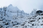 Mt Ruapehu is expected to receive large amounts of fresh snow around the middle of this week. Photo / Alex Roberston