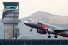 A Jetstar flight departs Christchurch Airport. Photo / File