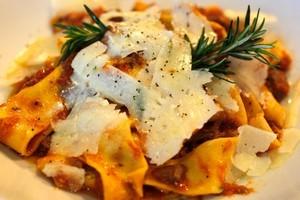 Papardelle el ragu di agnello, at Gina's italian Kitchen. Photo / Steven McNicholl