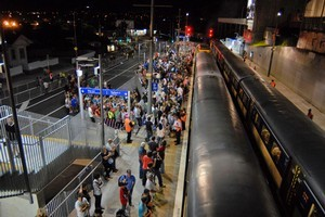 Smooth operation of trains to Eden Park is so important  that extra drivers will be brought in from other areas.  Photo / APN