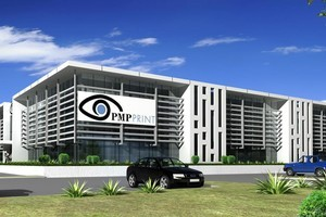 An artist's impression of the PMP Print building. Photo / Supplied