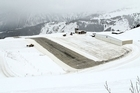 France's Courchevel Airport has a short 525-metre runway and a steep incline (which slows planes down on landing and speeds them up on takeoff). Photo / Creative Commons image by Hugues Mitton