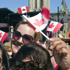 Spectators await the arrival of the Duke and Duchess of Cambridge on Parliament Hill. Photo / AP