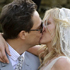Kate Moss and Jamie Hince kiss following their wedding in the village of Southrop, England. Photo / AP