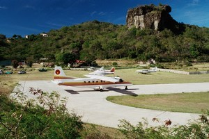 Gustaf III Airport, on Saint Barthélemy. Photo / Thinkstock