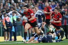 Sean Maitland of the Crusaders in action during the match against the Stormers. Photo / Getty Images 