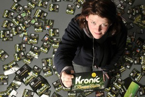 Kristyn Scott says she has consumed more than 110 packets of the now banned Kronic Pineapple Express. Photo / ODT