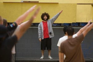 Thomas Lose, assistant choreographer for the opening ceremony, leads applicants through the moves. Photo / Richard Robinson.