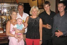 Inna with her family, from left to right: Jodie and daughter Baillie, Stephen, Inna, Andrew and James. Photo / Supplied
