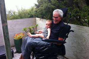 Five months ago David Yates was able to hold his grandson Awa David but his decline means that is no longer possible. Photo / Supplied
